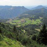 Paesaggio prima dell'arrivo sulla vetta di Monte Spitz