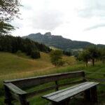 Vista dello Spitz dal sentiero Excalibur Tonezza